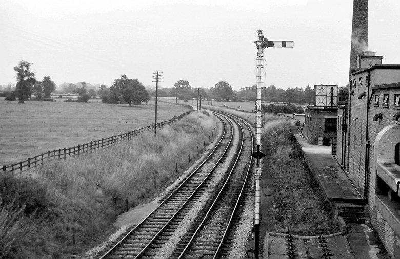The view in 1968 - track in dairy sidings lifted